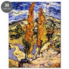 Van Gogh - Two Poplars on a Hill, Van Gogh  Puzzle
