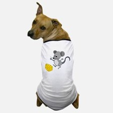 Mouse Jumping for Joy with Cheese Chun Dog T-Shirt