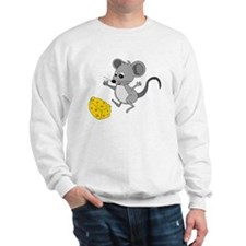 Mouse Jumping for Joy with Cheese Chunk Sweatshirt