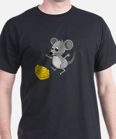 Mouse Jumping for Joy with Cheese Chu T-Shirt