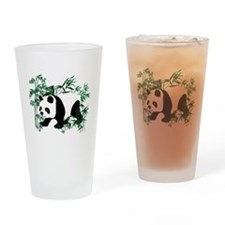 Panda in the Bamboo Forest Drinking Glass
