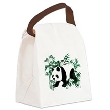 Panda in the Bamboo Forest Canvas Lunch Bag