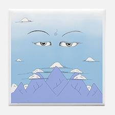 Wisdom Eyes Spiritual Sky Tile Coaster
