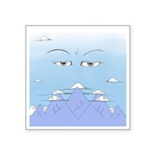 "Wisdom Eyes Spiritual Sky Square Sticker 3"" x 3"""
