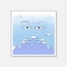 "Wisdom Eyes Spiritual Sky Square Sticker 3"" x 3"""