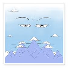 "Wisdom Eyes Spiritual Sk Square Car Magnet 3"" x 3"""