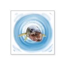"Walleye water Square Sticker 3"" x 3"""