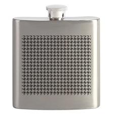 Retro Houndstooth Vintage Flask