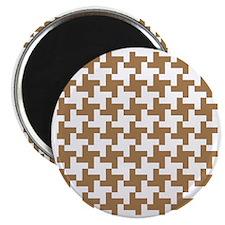 Retro Houndstooth  Vintage  Khaki Magnet