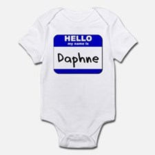 hello my name is daphne  Infant Bodysuit