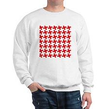 Retro Houndstooth  Vintage Red Sweatshirt