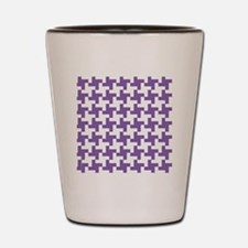 Retro Houndstooth  Vintage Purple Shot Glass