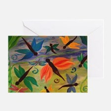 Dragonfly party Greeting Card