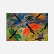 Dragonfly party Rectangle Magnet