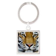 Tiger Square Keychain