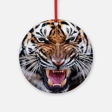 Big Cat Tiger Roar Round Ornament