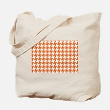 Retro Houndstooth Vintage  Orange Tote Bag