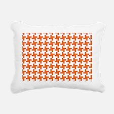 Retro Houndstooth Vintag Rectangular Canvas Pillow