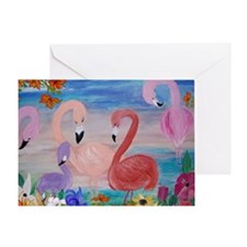 Flamingo Garden Greeting Card