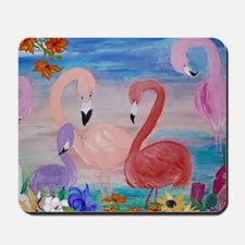 Flamingo Garden Mousepad
