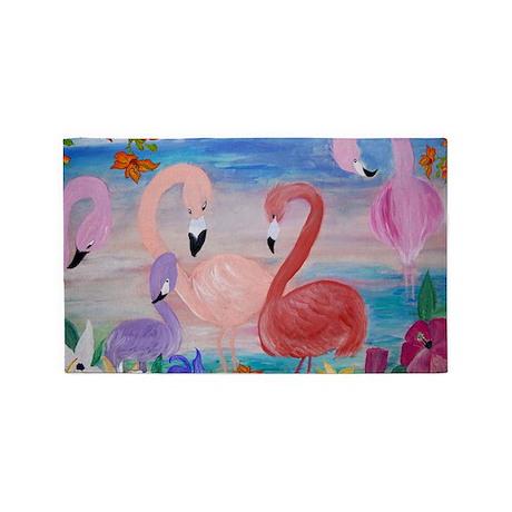 Flamingo Garden 3'x5' Area Rug