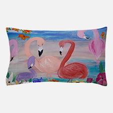 Flamingo Garden Pillow Case
