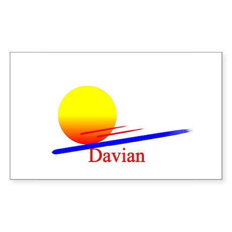 Davian Rectangle Sticker