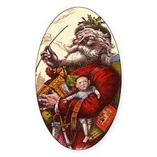 Vintage Christmas Santa Claus Decal