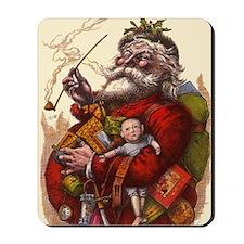 Vintage Christmas Santa Claus Mousepad