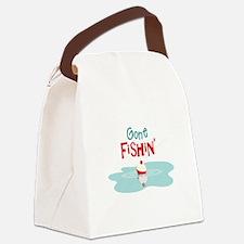 Gone Fishin Canvas Lunch Bag