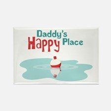 Daddys Happy Place Magnets