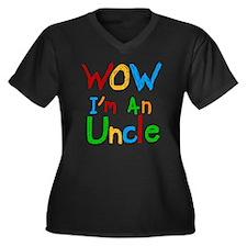 WOW Im an Un Women's Plus Size V-Neck Dark T-Shirt