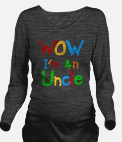 WOW Im an Uncle Long Sleeve Maternity T-Shirt