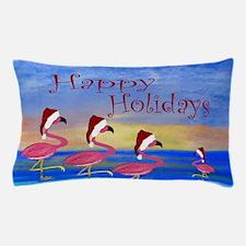 Santa Flamingos Holiday Beach Pillow Case