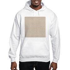 Retro Houndstooth Vintage Khaki Hoodie