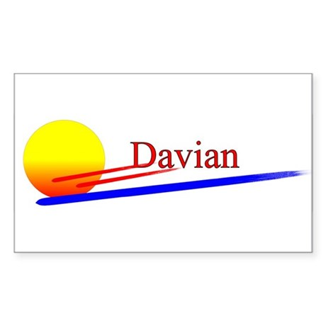 Davian Rectangle Sticker