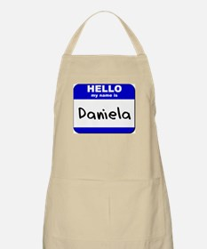 hello my name is daniela  BBQ Apron