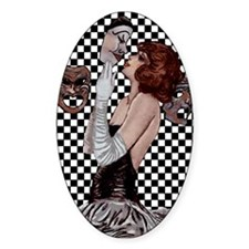 Carnevale Lovers Oval Decal