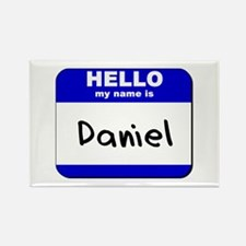 hello my name is daniel Rectangle Magnet