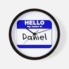 hello my name is daniel  Wall Clock