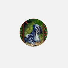 Cesky Terrier Dog Christmas Mini Button