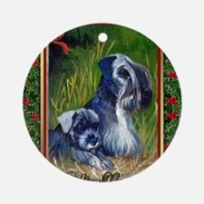 Cesky Terrier Dog Christmas Round Ornament