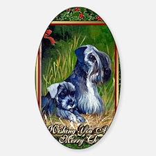 Cesky Terrier Dog Christmas Decal