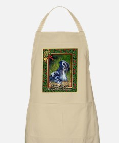Cesky Terrier Dog Christmas Apron
