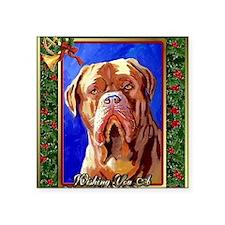 """Dogue De Bordeaux Dog Chris Square Sticker 3"""" x 3"""""""