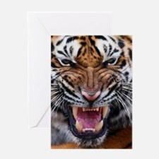 Tiger Mad Greeting Card