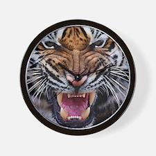 Tiger Mad Wall Clock