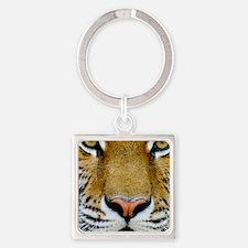 Tiger Square Keychain