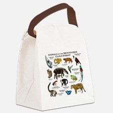 Animals of the Monteverde Cloud F Canvas Lunch Bag