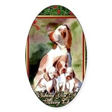 Bracco Italiano Dog Christmas Decal